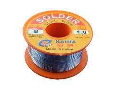 Припой (олово) KAINA 63/37 1.0мм с флюсом 50гр