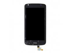 Дисплей для HTC 326G Desire Dual Sim + touchscreen, черный, 128 x 66mm
