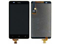 Дисплей для HTC 400 Desire Dual Sim/T528w One SU + touchscreen, черный