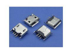 Разъем зарядки вертикальный для электронных сигарет 5 pin, micro-USB