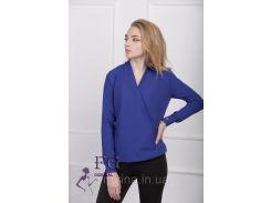 """Блузка с длинным рукавом """"Лурдес"""" - распродажа модели электрик, 42"""