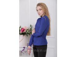 """Блузка с длинным рукавом """"Лурдес"""" - распродажа модели электрик, 46"""