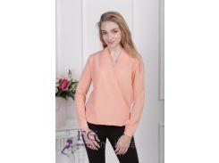 """Блузка с длинным рукавом """"Лурдес"""" - распродажа модели персик, 42"""