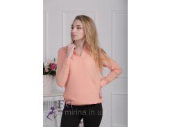 """Блузка с длинным рукавом """"Лурдес"""" - распродажа модели персик, 44"""