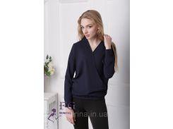 """Блузка с длинным рукавом """"Лурдес"""" - распродажа модели темно-синий, 46"""