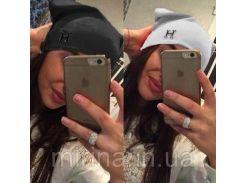 """Женская шапка """"Hermes"""" серый"""