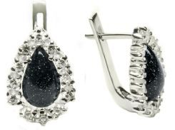 Серьги серебряные женские Северное сияние арт. 115 упс