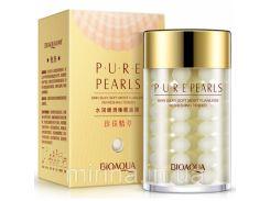 Крем для лица с жемчужной пудрой Bioaqua Pure Pearls. 120 мл. Большой объем