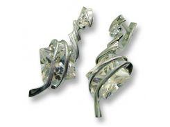 Серьги из серебра, модель 024