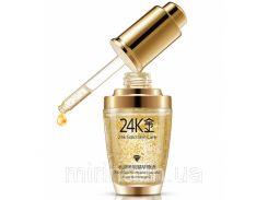 Сыворотка для лица BIOAQUA 24K Gold с частицами 24к золота и гиалуроновой кислотой.  30 мл.