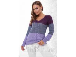 Джемпер 155 фиолетовый-светлый джинс-фиалка