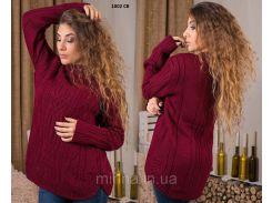 Теплый вязаный свитер 1002 СВ