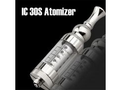 IC30S atomizer 3.0ml tank stainless clearomizer mouthpiece no wick core coil vaporizer + жидкость. Витринный образец.