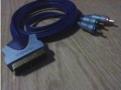 Кабель tech+link intercomponent SCARTmale-3 RCA 2m