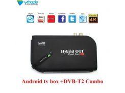 4К смарт TV приставка на Андроиде 7.1 + DVB Т2 + IPTV