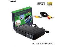 Combo приставка DVB-T2 + DVB-S2 HD цифровое спутниковое ТВ H.264 MPEG-2/4. Поддержка Bisskey.