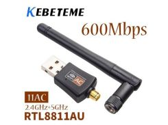 Wi-Fi USB адаптер KEBETEME Dual Band 802.11ac  5 ГГц 2,4 ГГц 600 Мбит/с для рабочего стола/ноутбука /PC
