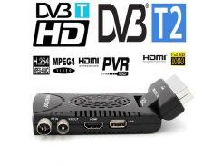 Мини HD DVB-T2 приставка+ DVB-T/mpeg-4/h.264HDMI + scart выход