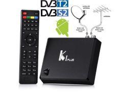 Смарт приставка K1 Plus Android 7,1 + DVB-T2 + спутниковое DVB-S2 HD1080p +  IP ТВ HD1080p + 4K