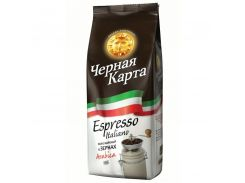 Кофе в зернах Черная карта espresso italiano арабика 1кг Польша