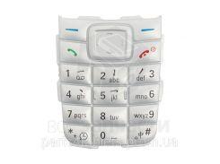 Клавиатура для мобильных телефонов Nokia 1110, 1110i, 1112, серебристая, английская