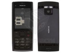 Корпус для мобильного телефона Nokia X2-00, черный, high-copy, с клавиатурой