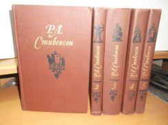 Стивенсон. Собрание сочинений в 5 томах. Библиотека  Огонек