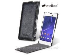 MELKCO Jacka Type Black Sony Xperia T3 D5102 M50w КОЖА РАСПРОДАЖ