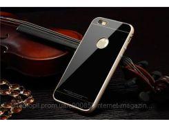 Металлический бампер Luphie с акриловой вставкой для Apple iPhone 6/6s Золотой / черный