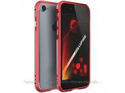 """Алюминиевый бампер Luphie Blade Sword для Apple iPhone 7 (4.7"""") Красный / Серебряный"""