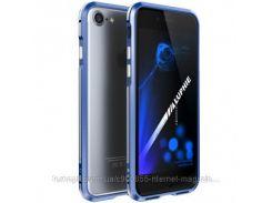 """Алюминиевый бампер Luphie Blade Sword для Apple iPhone 7 (4.7"""")    Синий / Серебряный"""