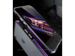 """Алюминиевый бампер Luphie Blade Sword для Apple iPhone 7 (4.7"""")  Черный / Фиолетовый"""