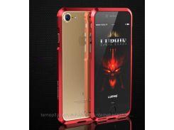 "Алюминиевый бампер Luphie Blade Sword для Apple iPhone 7 (4.7"") ( one color) Красный"
