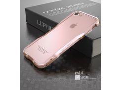 "Металлический бампер Luphie Razon для Apple iPhone 7 (4.7"")            Rose Gold"