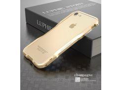 """Металлический бампер Luphie Razon для Apple iPhone 7 (4.7"""")            Золотой"""