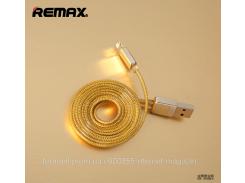 Дата кабель Remax Gold lightning для Apple iPhone 5/5s/5c/SE/6/6 Plus/6s/6s Plus /7/7 Plus 1m
