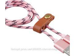 Дата кабель microUSB плетеный Earldom (1m) с клипсой