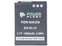 Акумулятор до фото/відео PowerPlant Nikon EN-EL12 (DV00DV1242) PowerPlant, NIKON, 1050mAh, 3.7V, Li-