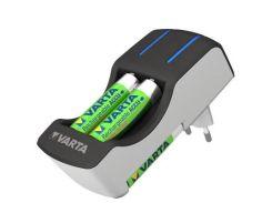 Зарядний пристрій для акумуляторів Varta Pocket Charger + 4AA 2100 mAh NI-MH (57642101451) АА, ААА,