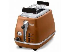 Тостер DeLonghi CTOV 2103.BW електронне, 900 Вт, 6, так, коричневий