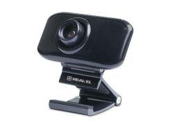 Веб-камера REAL-EL FC-250, black 1.25 м, 1.3 МП, 1280 x 960 пікселів, SXGA, USB 2.0, вбудований мікр