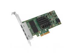 Мережева карта INTEL I350-T4 (I350T4V2BLK) 4x10/100/1000TX, PCI-E, Intel I350