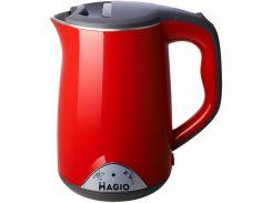 Електрочайник Magio МG-514 звичайний, 1.7 л, 1800 Вт, метал, червоний