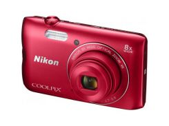 "Цифровий фотоапарат Nikon Coolpix A300 Red (VNA963E1) ПЗС (CCD), 1/2.3"", 20.1 Mpx, f/3.7 - 6.6, опти"