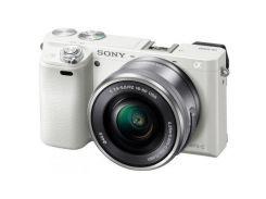Цифровий фотоапарат SONY Alpha 6000 kit 16-50mm White (ILCE6000LW.CEC) КМОП (CMOS), 23.5 х 15.6 мм,