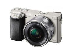 Цифровий фотоапарат SONY Alpha 6000 16-50 + 55-210 kit Silver (ILCE6000YS.CEC) КМОП (CMOS), 23.5 х 1