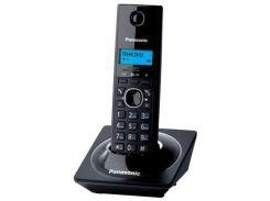 Телефон DECT PANASONIC KX-TG1711UAB лакований чорний (Piano Black), монохромний, матричний, з блакит