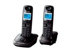 Телефон DECT PANASONIC KX-TG2512UAT титан (Titan), монохромний, матричний, з блакитним підсвічування
