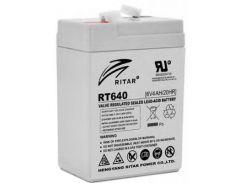 Батарея до ДБЖ Ritar AGM RT645, 6V-4Ah (RT640) 6 В, 4 Ач, для ДБЖ