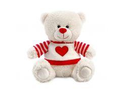 Мягкая игрушка Lava Медвежонок Сэмми в свитере с сердечком 18 см (LA8733D)